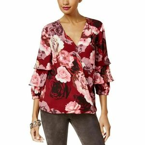 INC International Concepts Printed Tiered-Sleeve